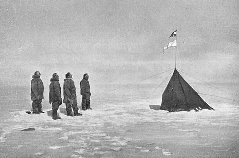 Amunden's party and Polheim at the South Pole